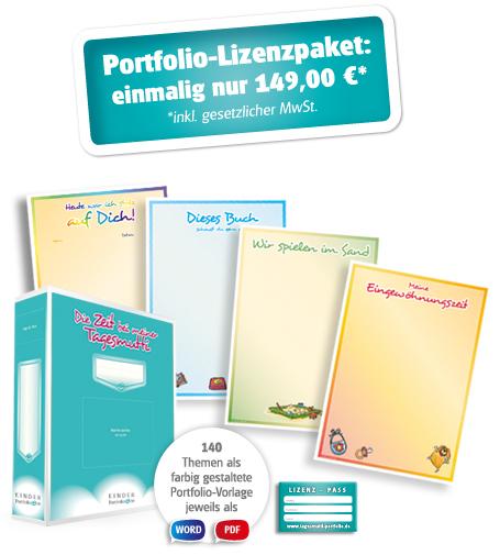 Portfolio-Lizenzpaket: 129,00€* Vorzugspreis bis 31.07.2013 nur 79,00€* *inkl. gesetzlicher MwSt. zzgl. Versandkosten